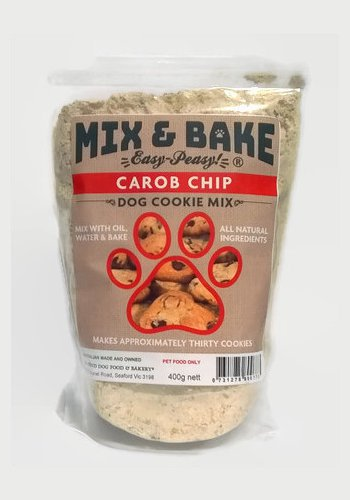 Mix & Bake Doggy Carob Chip Cookie Premix- 2 X 400G Bags. Comes With A Cookie Cutter.