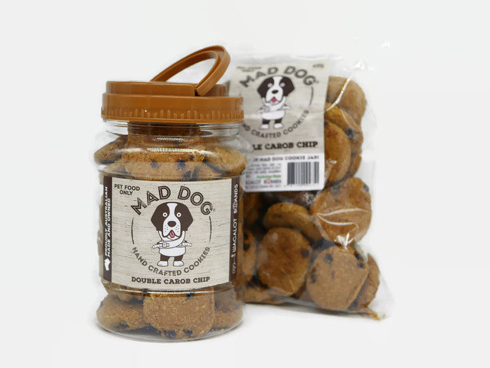 Mad Dog Double Carob Chip Cookie Jar 400G and Refill Pack 400G