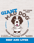 Mad Dog Giant Beef & Liver dog cookie approx 75 grams
