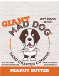 Mad Dog Giant Peanut Butter Cookie - approx 75 grams