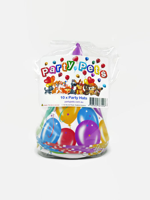 pack of ten party hats