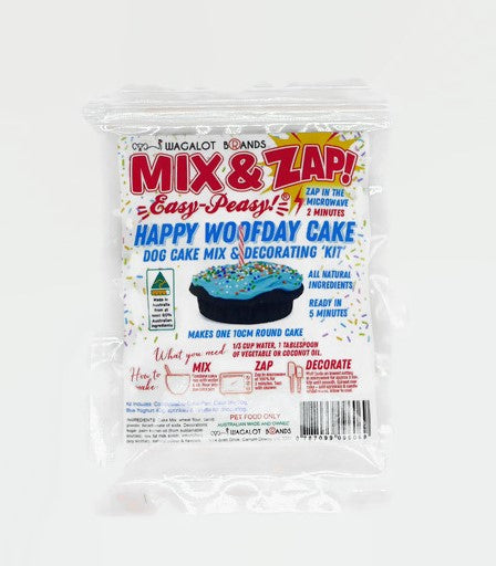 Mix & Zap HAPPY WOOFDAY CAKE Kit - Blue