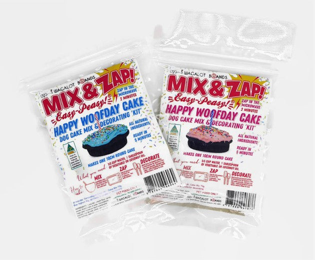 Mix & Zap HAPPY WOOFDAY CAKE Kit - A How To Video