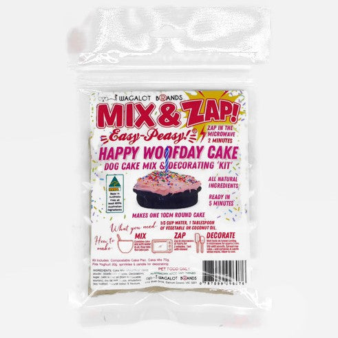 Mix & Zap HAPPY WOOFDAY CAKE Kit - Pink