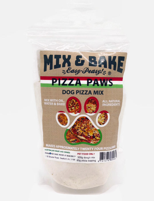 Mix & Bake Pizza Paws - bake at home pizza cookies for dogs - 380 grams