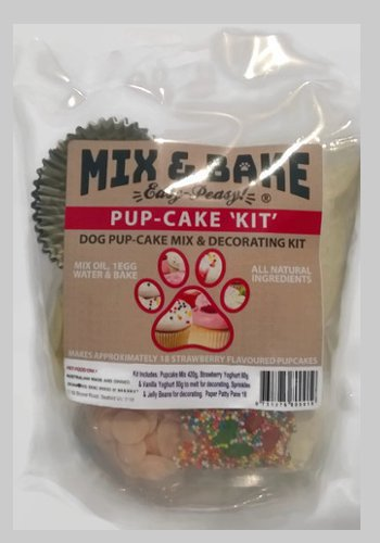 Mix & Bake Pup-Cake Kit - bake at home dog cupcake kit