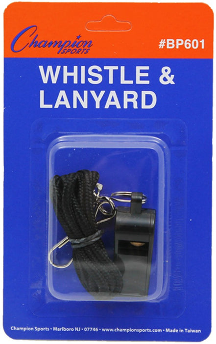 Champion Plastic Whistle & Lanyard