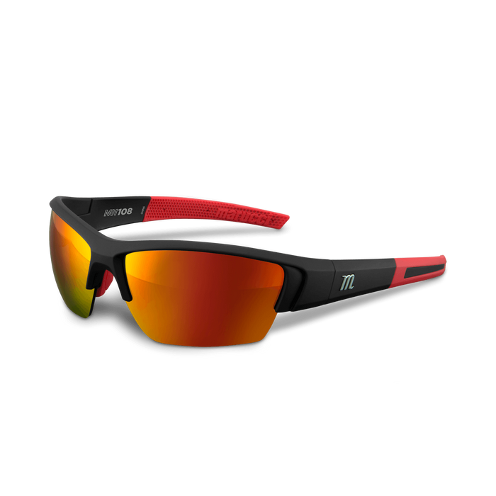 Marucci MV108 Performance Sunglasses Matte Black/Red: MSNV108
