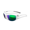 Marucci Volo Performance Sunglasses Matte White/Green: MSNVOLO