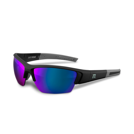 Marucci MV108 Performance Sunglasses Matte Black/Blue: MSNV108