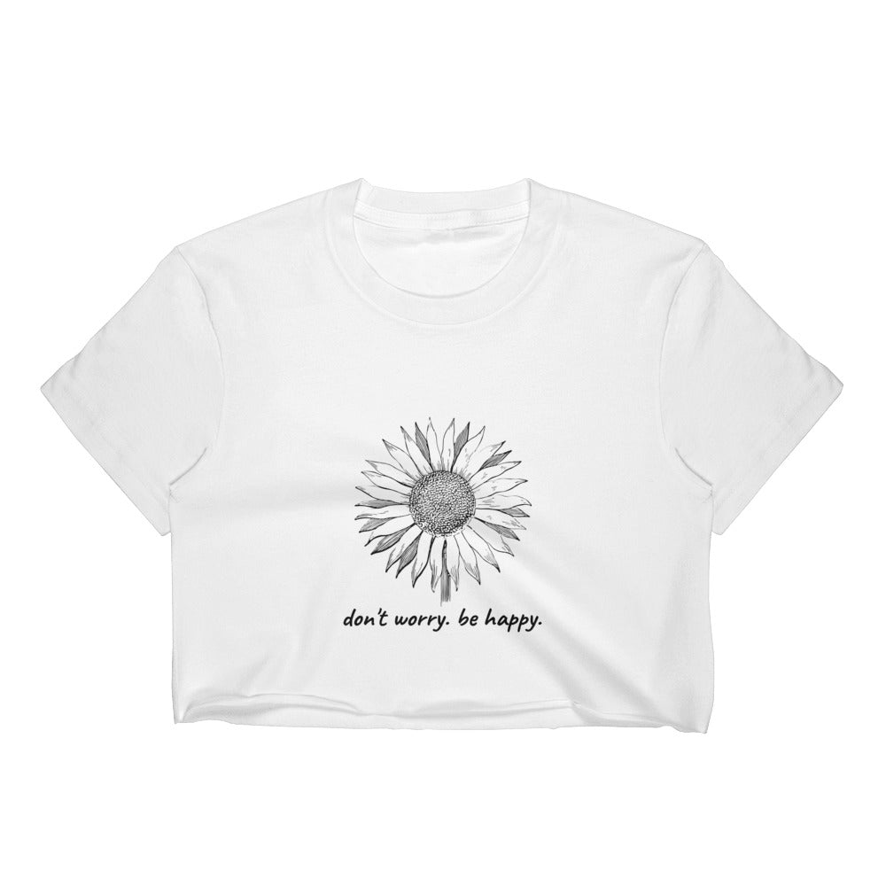 Don't Worry Be Happy Cropped Tee