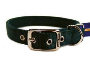 Emerald Green Double Think Nylon Dog Collar