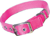 Hot Pink Double Thick Nylon Dog Collar