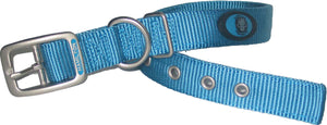 Ocean Blue Double Thick Nylon Dog Collar