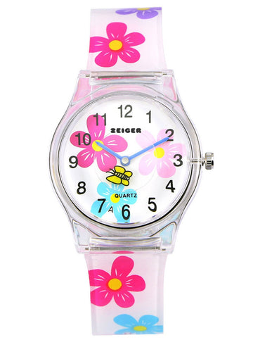 Zeiger Children Mini Quartz Wrist Watch Timepiece EasyRead Flower Watch For GirlsZeiger Children Mini Quartz Wrist Watch Timepiece EasyRead Flower Watch For Girls