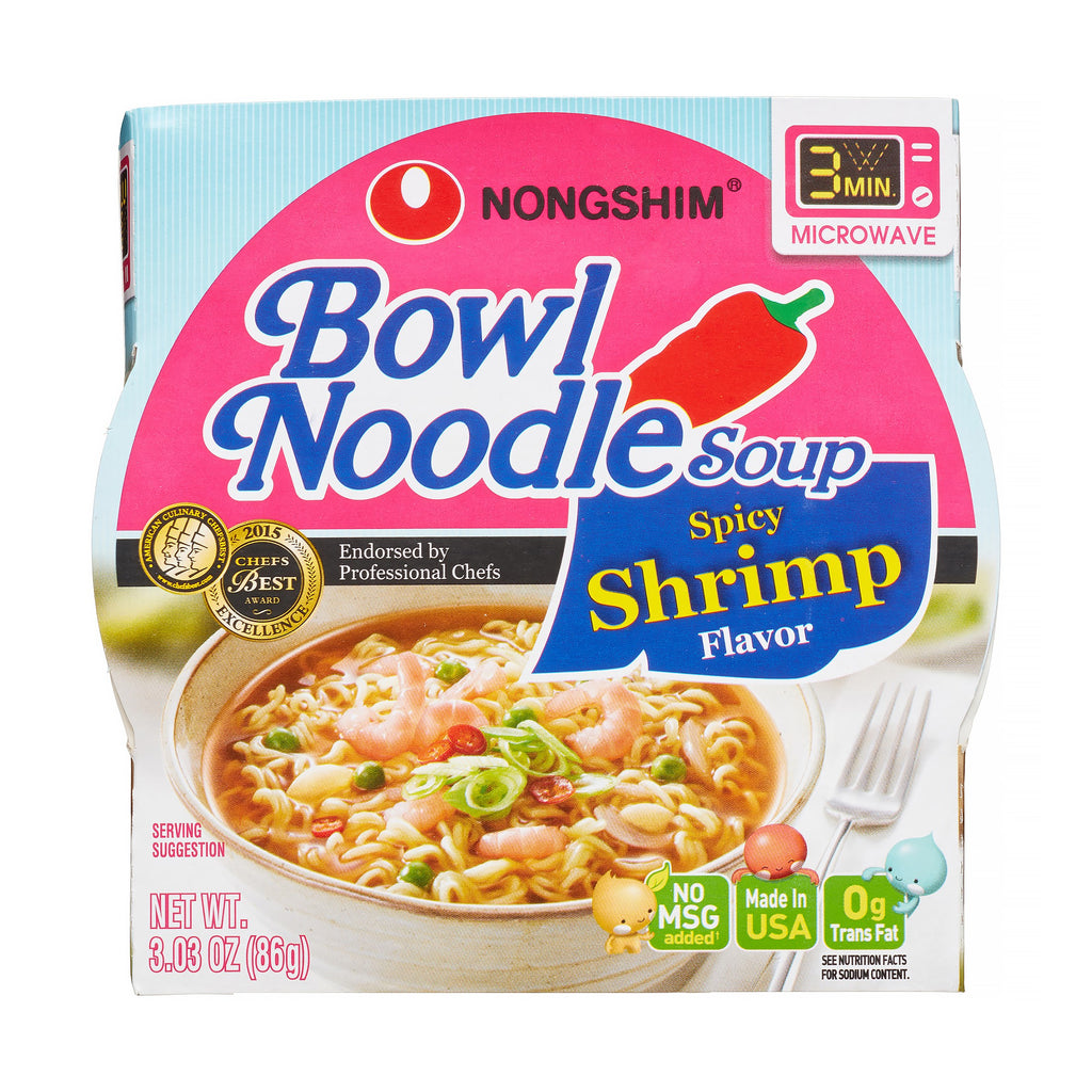 Nongshim Bowl Noodle Spicy Shrimp, 3.03 Oz, 12 CtNongshim Bowl Noodle Spicy Shrimp, 3.03 Oz, 12 Ct
