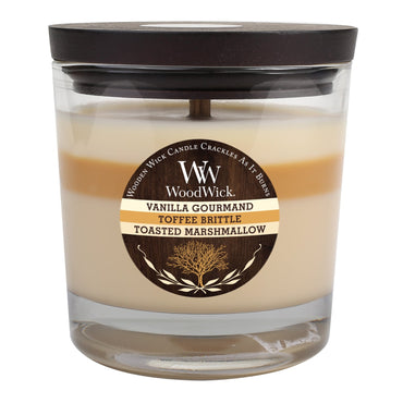 WoodWick Vanilla Gourmand, Toffee Brittle & Toasted Marshmallow 10 1/2-oz. Jar Candle