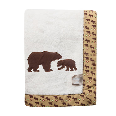 Trend Lab Northwoods Wildlife Framed Fleece Receiving Blanket