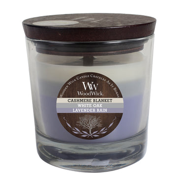 WoodWick 10.5-oz. Tri-Tone Cashmere Blanket Jar Candle