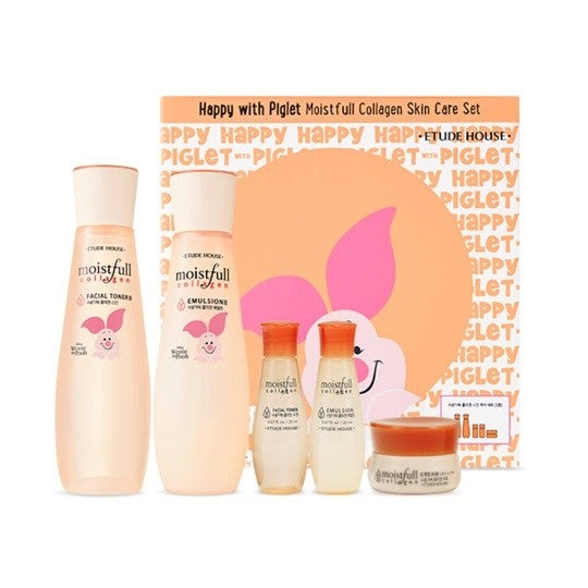 Happy with Piglet Moistfull Collagen Skin Care Set