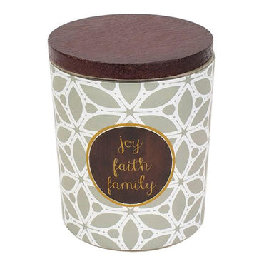 WoodWick ''Joy, Faith, Family'' Vanilla Gourmand 9.5-oz. Candle Jar