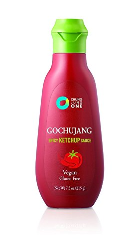 Chung Jung One Korean Tube Gochujang Sauce 3 pcs Set Chili & Ketchup (7.5 oz x2) + 1.06 oz