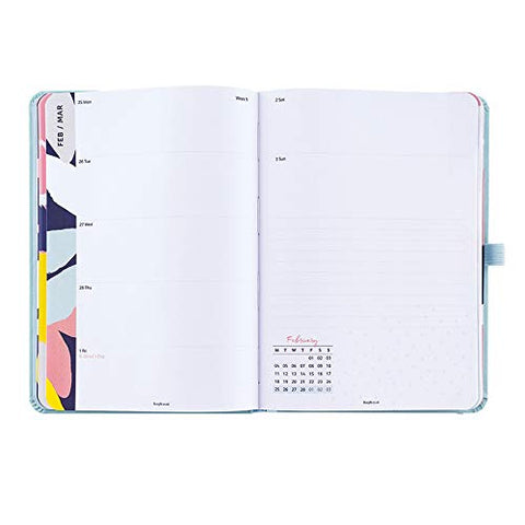 Busy B 2019 Perfect Planner Diary with Pockets/Stickers/Mini Notebook - Blue