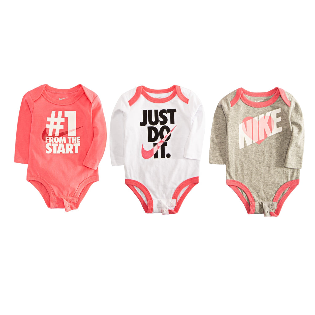 Baby Girl Nike 3-pack Bodysuits
