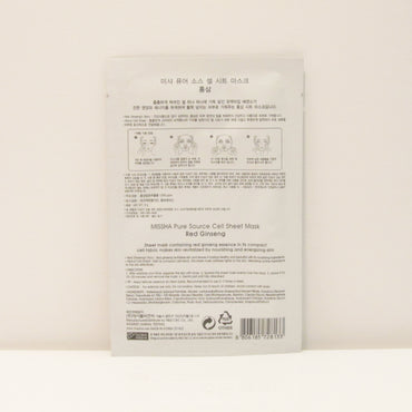 MISSHA Pure Source Cell Sheet Mask, Red GinsengMISSHA Pure Source Cell Sheet Mask, Red Ginseng