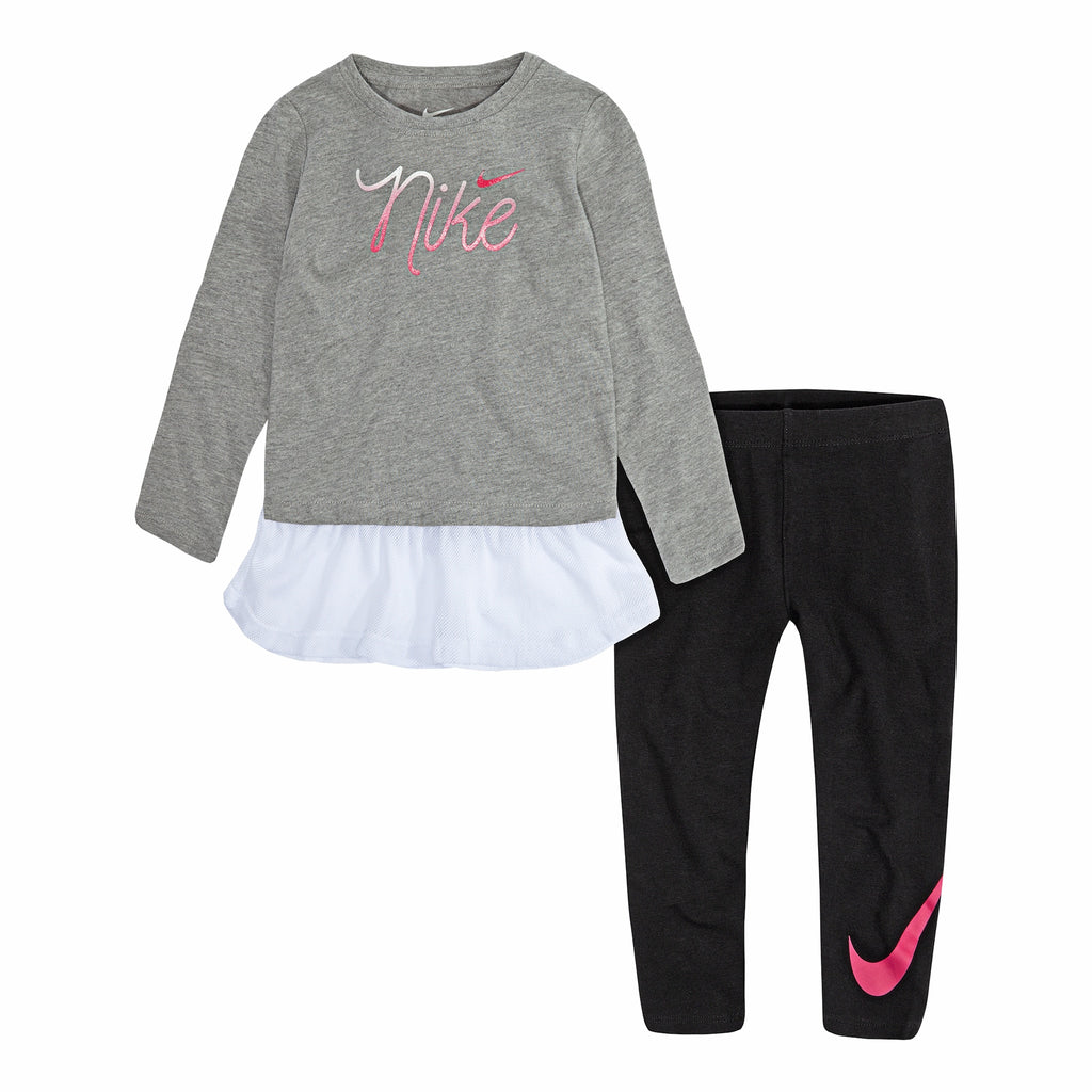 Baby Girl Nike Mesh-Hem Tunic & Logo Leggings Set
