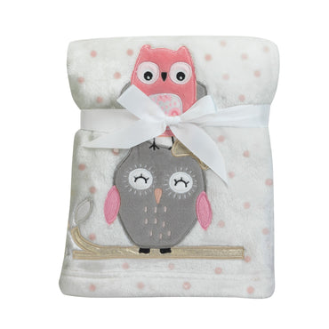 Lambs & Ivy Stay Family Tree Owl Blanket