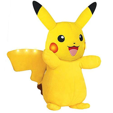 Pokémon Power Action Pikachu 12 Inch Plush - Shake to Charge Up for Lights and Sounds