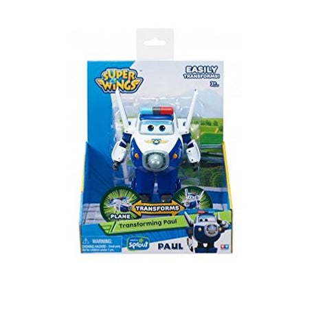"Super Wings US710250 - Transforming Paul Toy Figure | Plane | Bot | 5"" Scale"