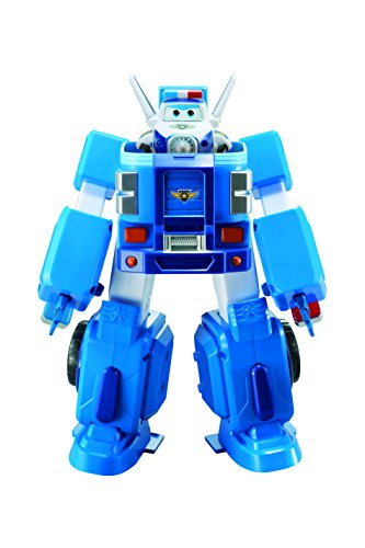 "Super Wings - Paul's Police Cruiser | Transforming Toy Vehicle Set | Includes Transform-a-Bot Paul Figure | 2"" Scale"