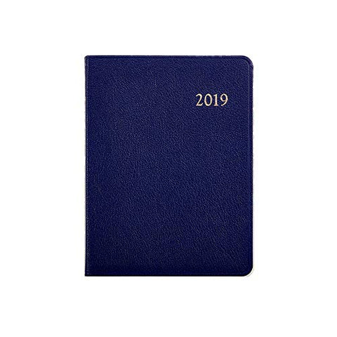 Graphic Image 2019 Weekly Desk Diary Datebook - Pebble Grain (7 x 9) (Navy Blue)