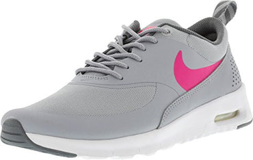 NIKE Girl's Air Max Thea Wolf Grey/Hyper Pink-Cool Ankle-High Running Shoe - 7M