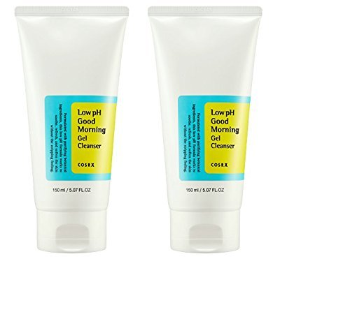 COSRX Low Ph Good Morning Gel Cleanser 150ml, 2 Pack - Oil Control, Deep Cleansing, Skin Refreshening