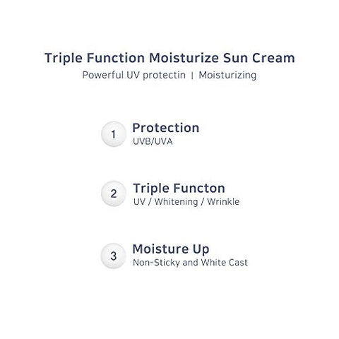 [9wishes] Sun Moisturizer Facial Suncream SPF50+ PA+++ 50ml / Moist, Non-Greasy, UV Protection, Moisturizing, Including Aloe & Zinc Oxide