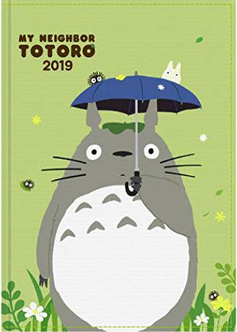 2019 Ghibli Studio Animation Diary Journal Weekly Planner Scheduler Datebook Notebook (5.0 x 7.3 inches). A Post Card included