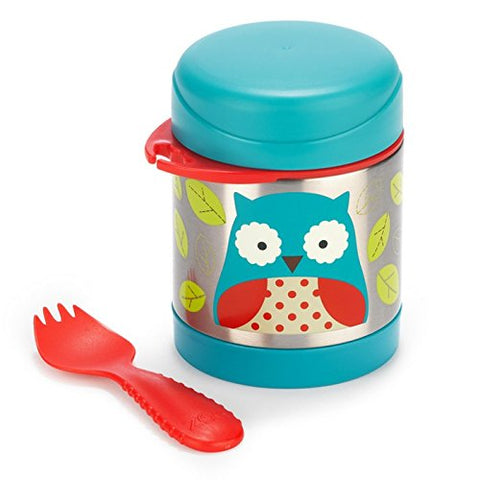 Skip Hop Baby Zoo Little Kid and Toddler Insulated Food Jar and Spork Set