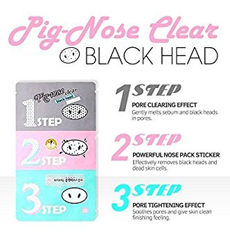 Holika Holika Pig Nose Clear Black Head 3-Step Kit X10pcs