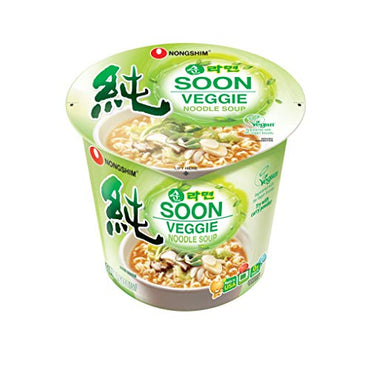 NongShim Soon Noodle Soup, Veggie, 2.6 Ounce (Pack of 6)