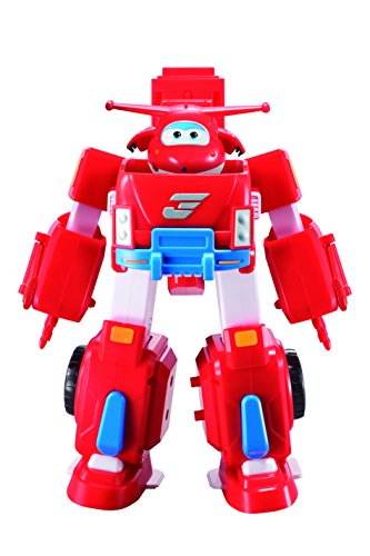"Super Wings - US720311 - Jett's Robo Rig | Transforming Toy Vehicle Set | Includes Transform-A-Bot Jett Figure | 2"" Scale"