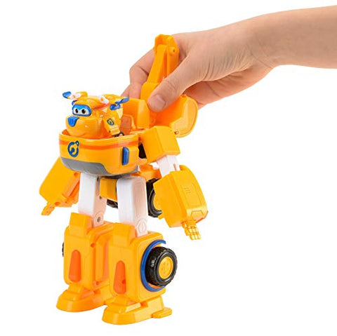 "Super Wings - Donnie's Dozer | Transforming Toy Vehicle Set | Includes Transform-a-Bot Donnie Figure | 2"" Scale"