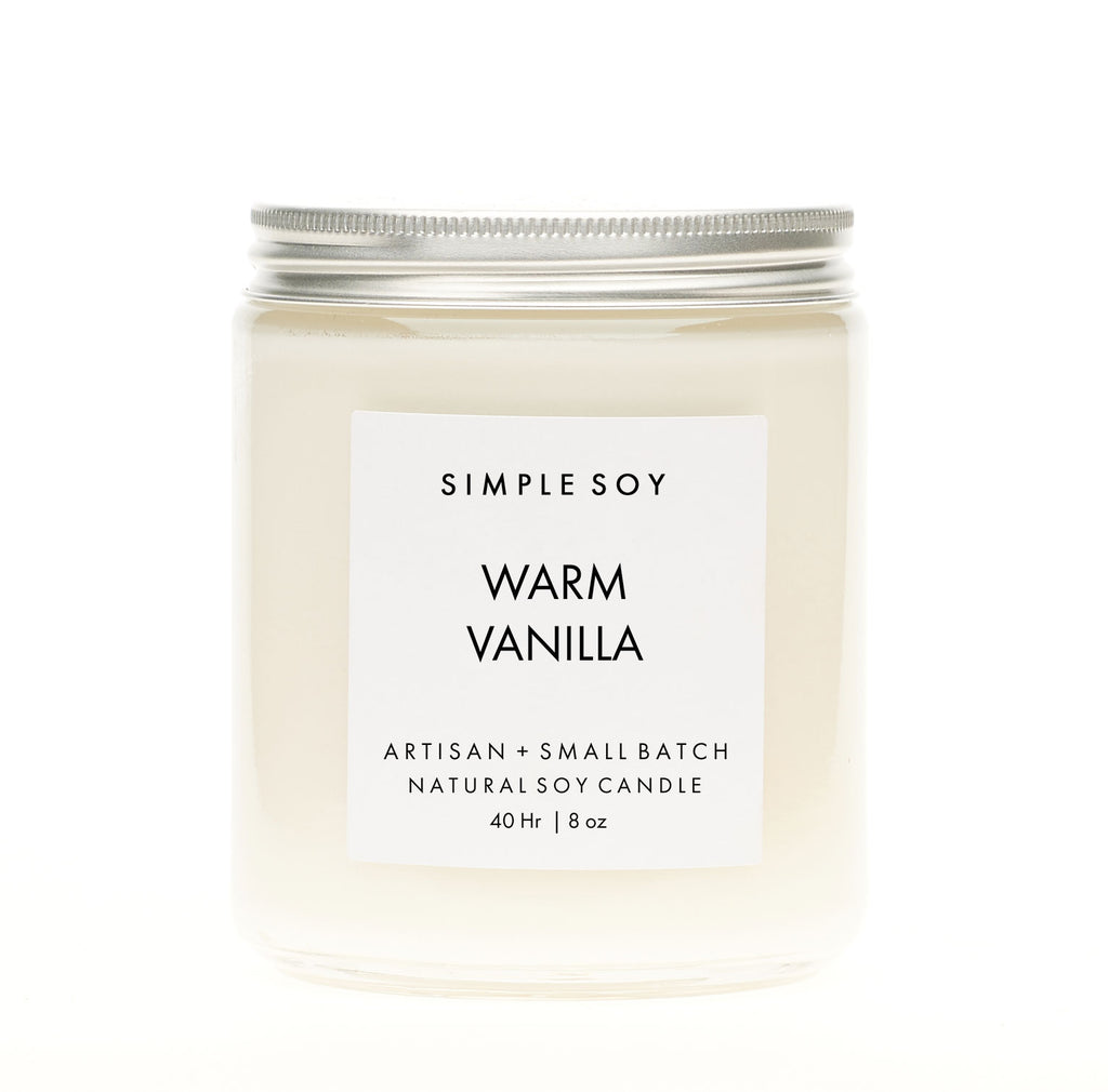 Simple Soy Natural Scented Soy Candle, Warm Vanilla Mantle, 8 ozSimple Soy Natural Scented Soy Candle, Warm Vanilla Mantle, 8 oz