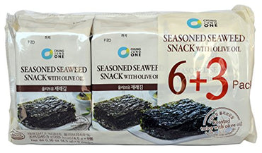 Chung Jung One, Seasoned Seaweed Snack, 9 Count (9 Pack) (4.5g x 9)