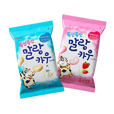 Soft Malang Cow Fresh Grade Milk & Strawberry Milk Chewy Candy