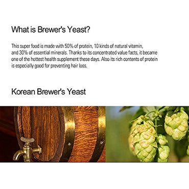 [Jeongwoodang]Dry Brewers yeast 35.2oz/Preventing Hair Loss/50% Protein/diet supplement/Super Food/맥주효모/啤酒酵母