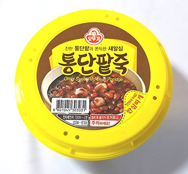 Ottogi Sweet Red Bean Porridge, 10oz./bowl (오뚜기 통단팥죽, 285g 용기죽)