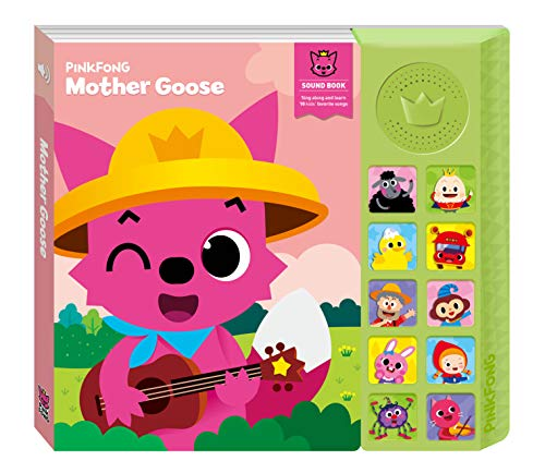 "Pinkfong Children's Mother Goose Sound Book, 8.7"" x 7.8"", Pink/Light Green"